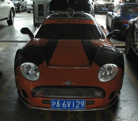 Spotted in China: Spyker C8 Laviolette LM85