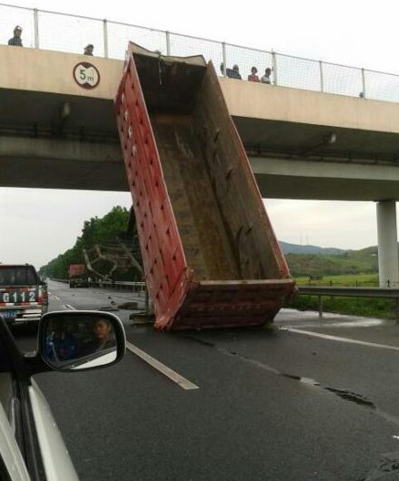 Chinese truck drivers loses something Along the Way