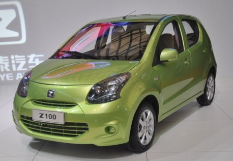 Zotye Z100 launched at the Shanghai Auto Show