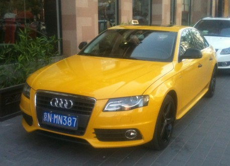 Audi A4L is Yellow in China