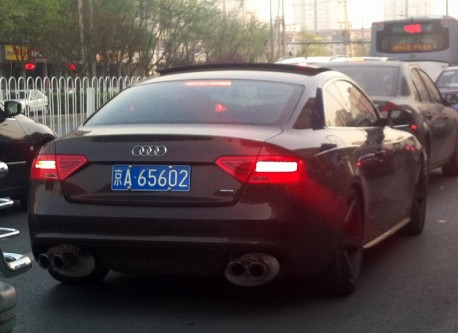 Audi RS5 with Giant Mufflers in China