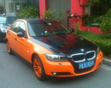BMW 3-Series is Black & Orange in China