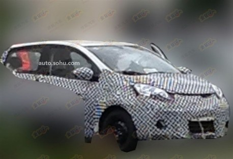 Spy Shots: Chang'an A301 testing in China