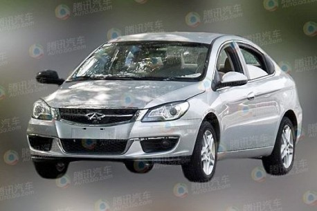 Spy Shots: facelifted Chery A3 sedan Naked in China