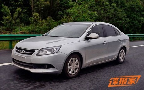 Spy Shots: Chery A4 without camouflage in China