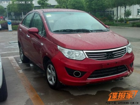 Spy Shots: Chery E2 sedan is Naked in China