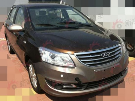 Spy Shots: Chery E3 is naked in brown in China
