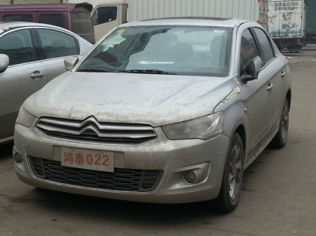 Spy Shots: new Citroen C-Elysee seen testing in China