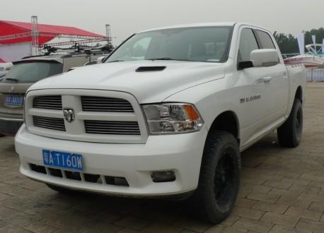 Dodge Ram 1500 pickup truck is matte white in China