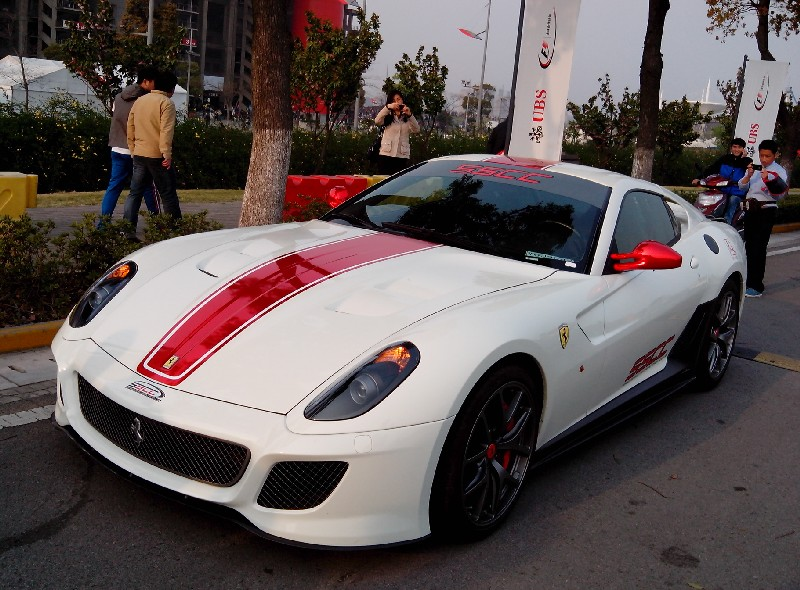 Ferrari 599 GTO is white with a bit of Shiny Red in China ...