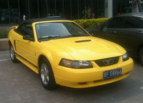 Spotted in China: Ford Mustang Convertible is yellow in China