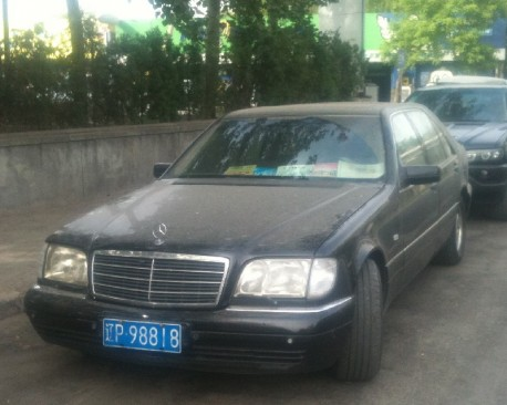 Spotted in China: W140 Mercedes-Benz S500 in Black