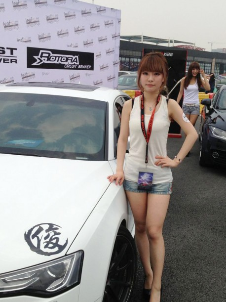 Pretty Chinese Girls on a Tuning show in China