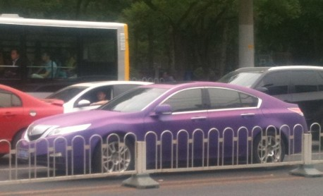 Acura TL is matte purple in China