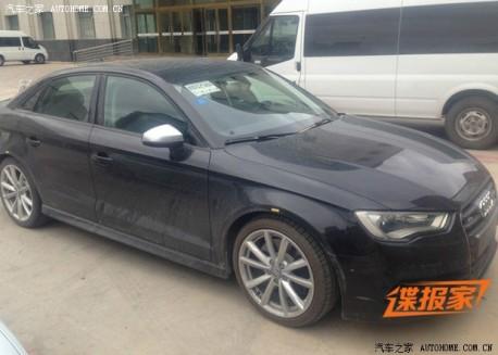Spy Shots: Audi S3 sedan testing in China