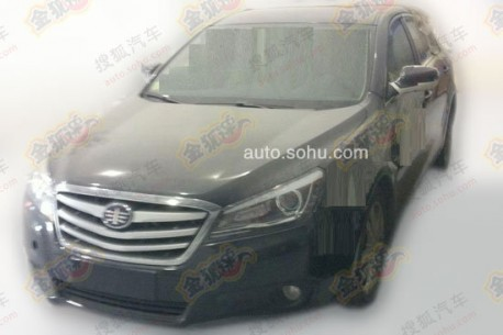 Spy Shots: facelift for the FAW-Besturn B90 in China
