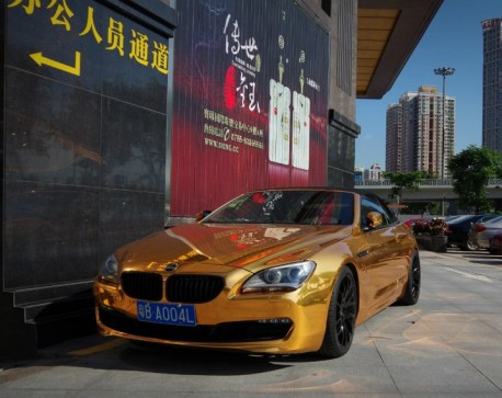 BMW 650i Convertible is Bling in China