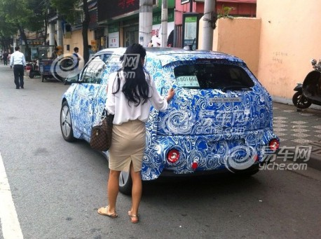 Spy Shots: BMW i3 testing in China