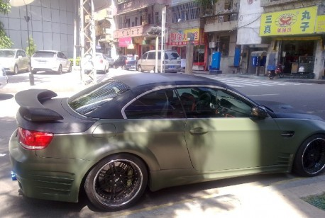 BMW M3 Convertible with a Body Kit in China