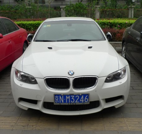 BMW M3 Convertible has a License in China