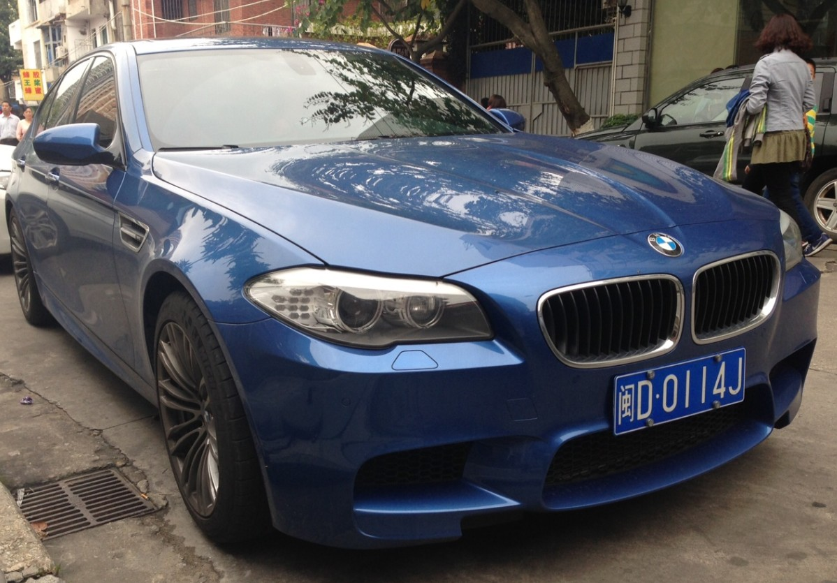 BMW M5 Is Blue China