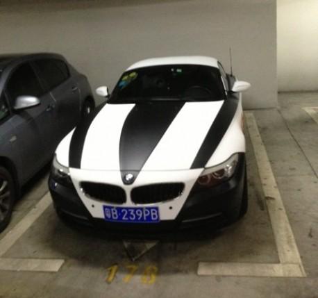BMW Z4 is a Zebra in China