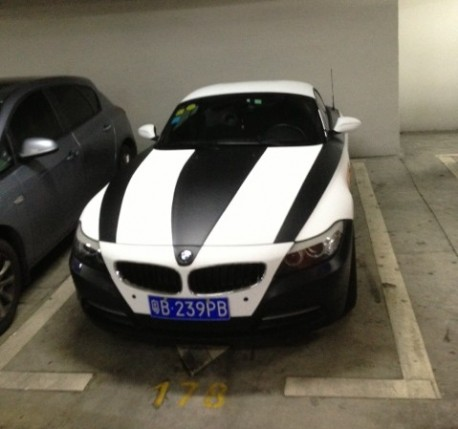 BMW Z4 is a Zebra in China