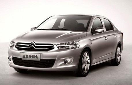 Official pictures of the new Citroen C-Elysee for the Chinese car market