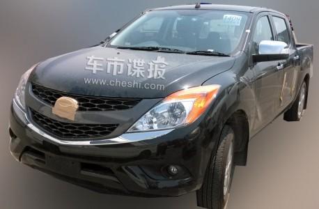 Spy Shots: Mazda BT-50 pickup truck testing in China