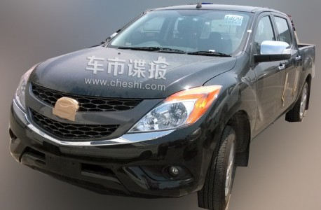 Spy Shots: Mazda BT-50 pickup truck testing in China