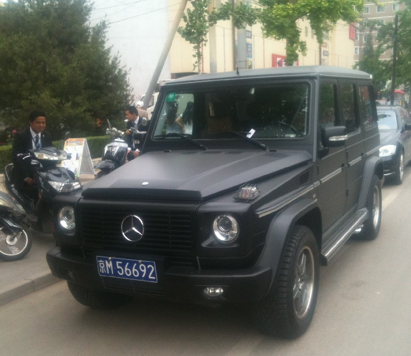 Mercedes Benz G55 Amg Is Matte Black In China Carnewschina Com