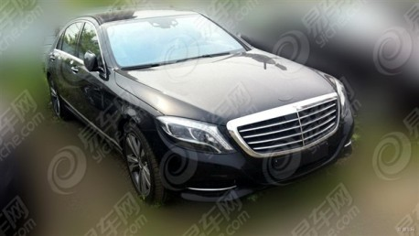 Spy Shots: Mercedes-Benz S400 Hybrid testing in China