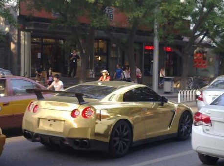 Bling! Nissan GT-R is Gold in China