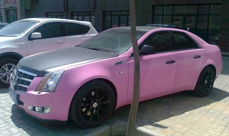 Cadillac CTS is Pink and a Bit Black in China