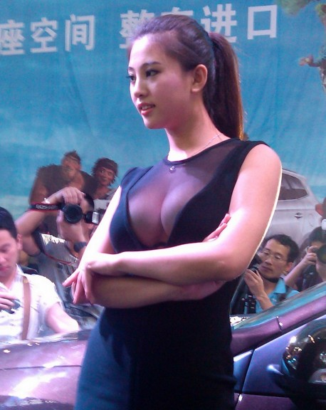 A pretty Chinese Girl at the Shenzhen-Hong Kong-Macao International Auto Show