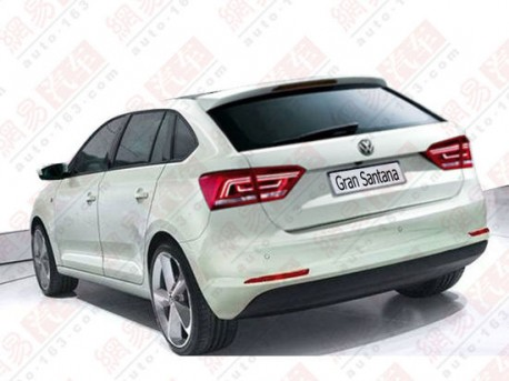 Rendered Speculation: Volkswagen Gran Santana hatchback