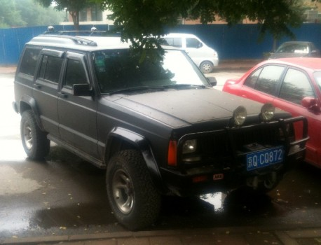 Beijing-Jeep Cherokee is matte black in China