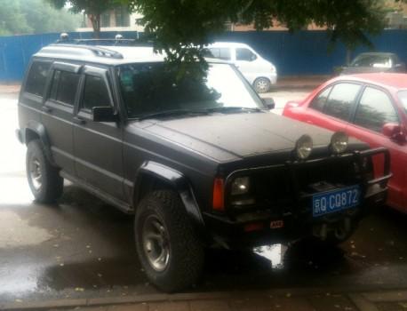 Beijing-Jeep Cherokee is matte black in China