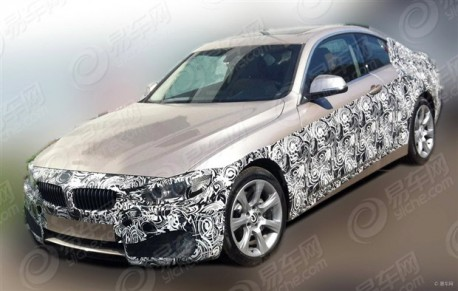 Spy Shots: BMW 4-Series Coupe testing in China