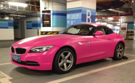 BMW Z4 is very Pink in China