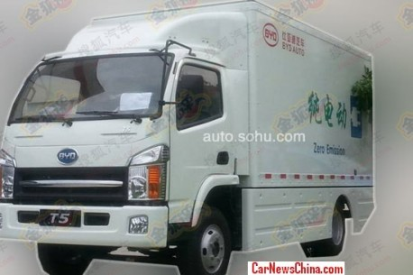Spy Shots: BYD develops electric powered truck in China