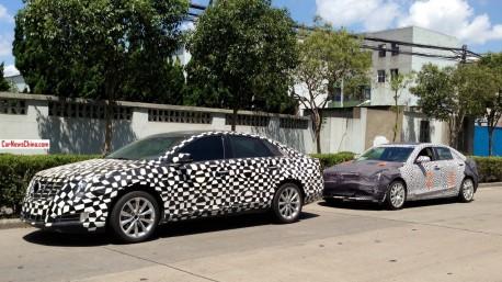 Spy Shots: Cadillac ATS & XTS testing in China