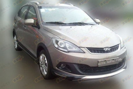 Spy Shots: Chery Fulwin 2 Cross testing in China