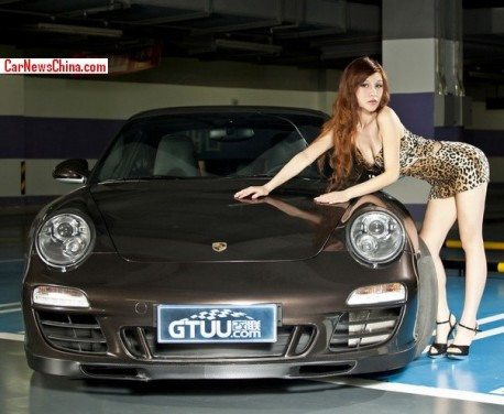 Lusty Chinese Girl is a Tiger with a Porsche in China