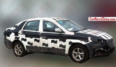 Spy Shots: FAW-Besturn B30 testing in China