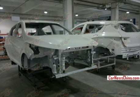Spy Shots: FAW-Xiali T102 seen in the Factory in China