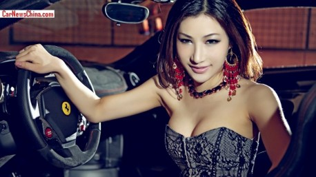 Chinese Hottie gets very Sweet with a Ferrari F430 Scuderia