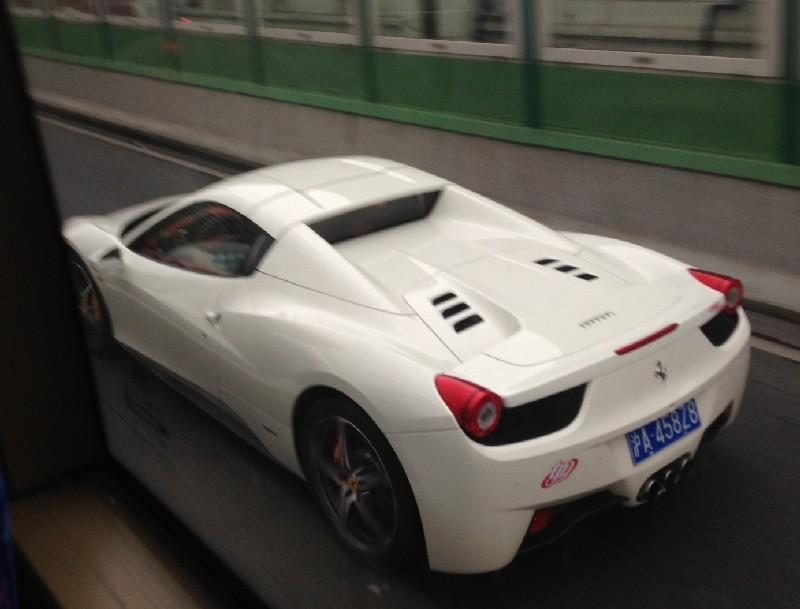 White Ferrari 458 Spider Has A License A Red Interior In China Carnewschina Com