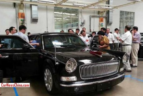 Spy Shots: Hongqi L5 is Naked in the Factory in China