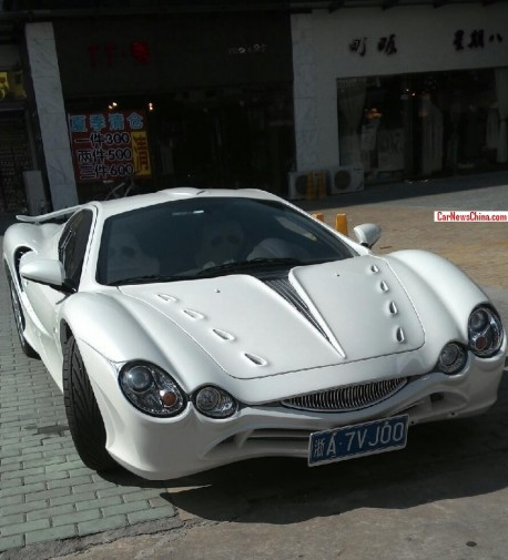 Spotted in China: Mitsuoka Orochi in white